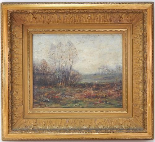 Henry Cooke White Impressionist Landscape Painting