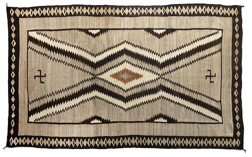 Navajo, Regional Area Rug with Whirling Logs, ca. 1925
