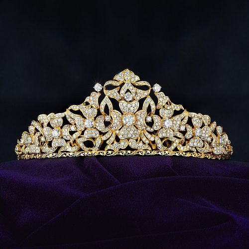 Diamond Flower Tiara