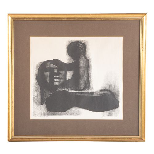 """John Wilson. """"Father and Child,"""" lithograph"""