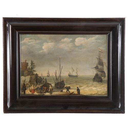 Abraham Willaerts. Dutch Coastal Scene, oil