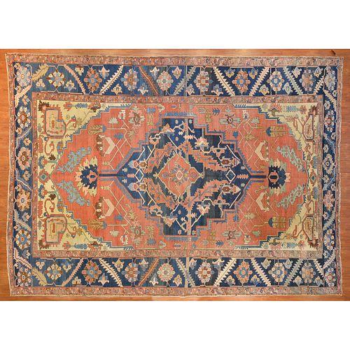 Rare Antique Serapi Carpet,. Persia, 11.1 x 15.1