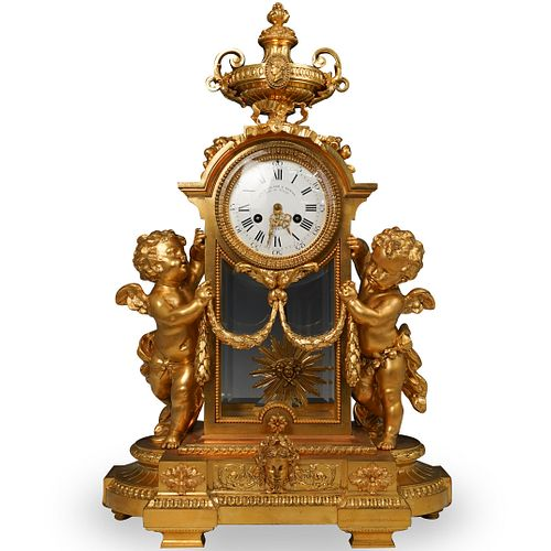 19th Cent Victor Paillard & Romain Ormolu Clock
