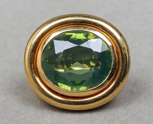 Tiffany & Co. Paloma Picasso 18K Green Stone Ring