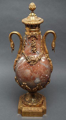 French Louis XVI Style Ormolu Mounted Marble Urn