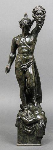 "After Cellini ""Perseus & Medusa"" Marble Sculpture"