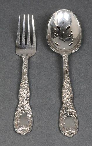 "Tiffany & Co. ""Chrysanthemum"" Silver Servers, 2"