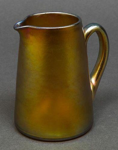 Tiffany Studios Favrile Art Glass Small Pitcher