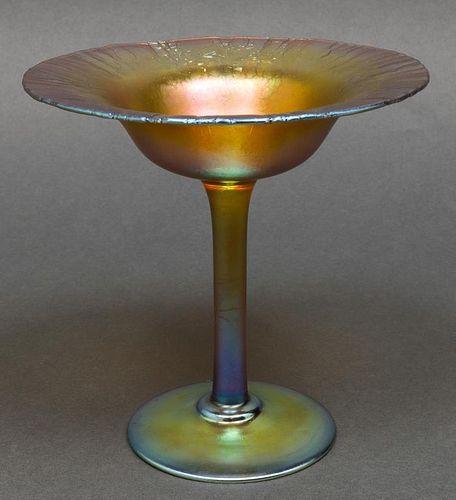 Tiffany Studios Favrile Art Glass Compote
