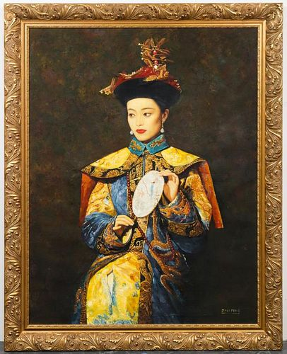 Di Li Feng Large Contemporary Chinese Oil