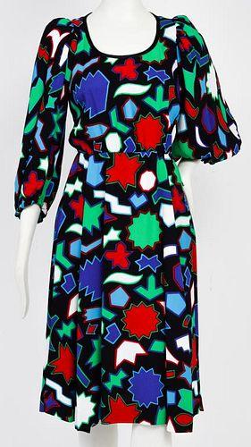 Yves Saint Laurent Designer Graphic Print Dress