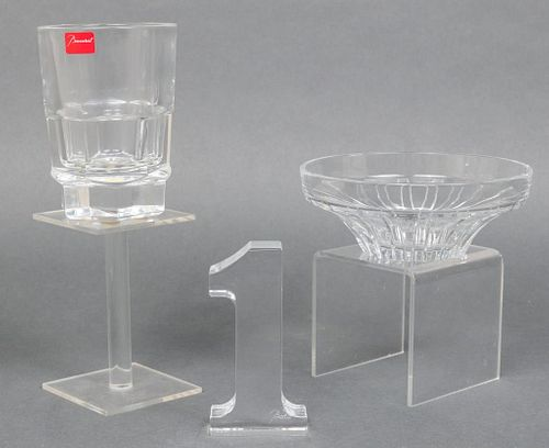 Baccarat Misc. Crystal Dishes & Decor, 3 Pcs