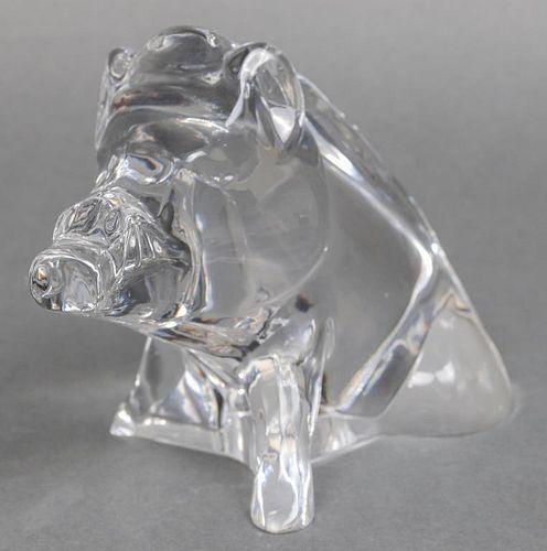 "Baccarat Crystal ""Wild Boar"" Figurine"