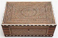 Anglo-Indian Bone Inlaid Fitted Dresser Box
