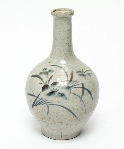 Asian Possibly Korean Hand-Painted Bottle Vase