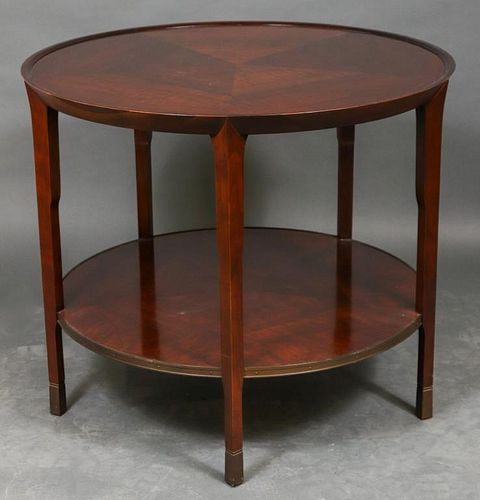 Baker Mahogany Two-Tier Occasional Table