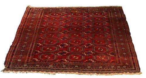"Turkmen Carpet 6' 6"" x 5' 11"""