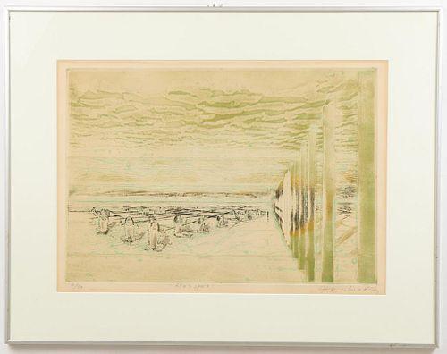 "Krishna Reddy ""Apu's Space"" Intaglio Print"