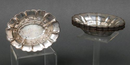M. Fred Hirsch Co. Sterling Silver Nut Dishes, 8
