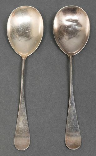 A. Michelsen Danish Sterling Serving Spoons, Pr