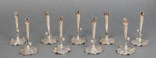 Camusso Sterling Silver Bud Vases, 11