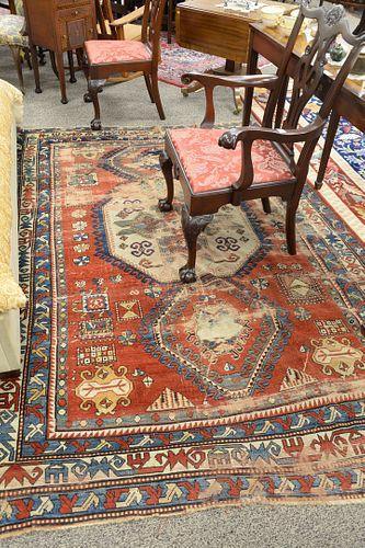 "Kazak throw rug  6' x 8' 7"""