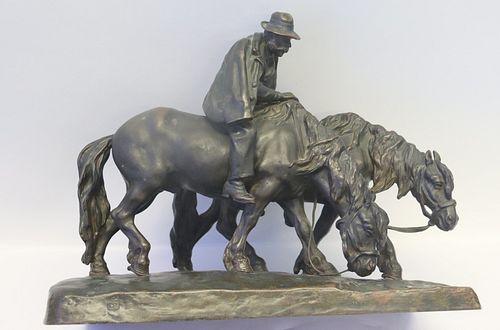 Illegibly Signed Bronze Sculpture.