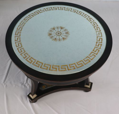 Neoclassical Style Ebonised And Mirror Top Center