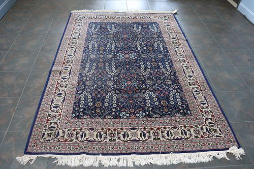 Vintage And Finely Hand Woven Carpet.