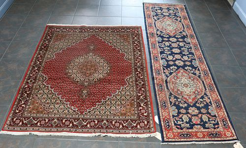 Vintage And Finely Hand Woven Runner Together