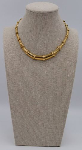JEWELRY. 18kt Gold Choker Length Necklace.