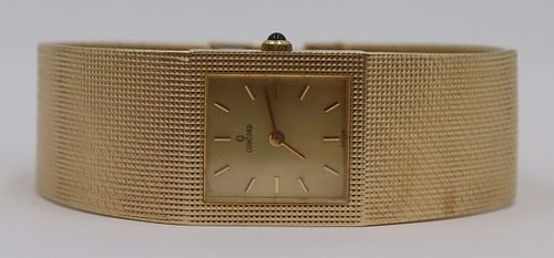 JEWELRY. Concord 14kt Gold Ladies Watch.