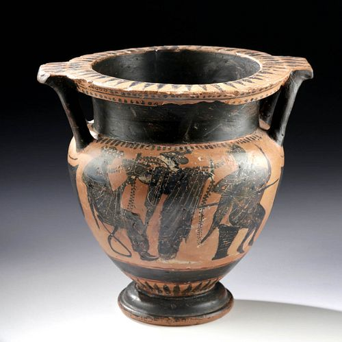 Greek Attic Black-Figure Krater, Mikra Karaburun Group