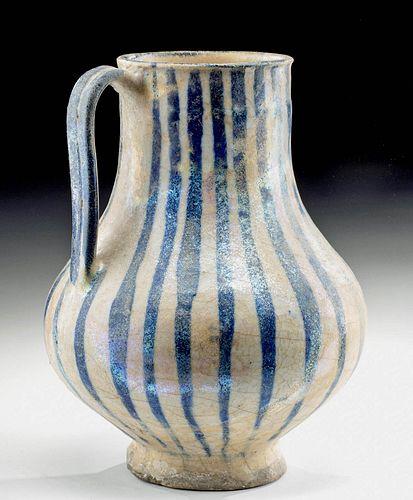 Medieval Seljuk Glazed Pottery Pitcher w/ TL