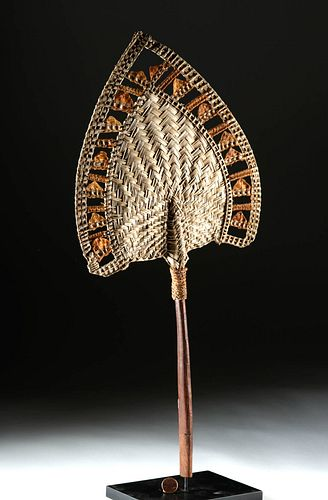 Rare 19th C. Samoan Woven Fan