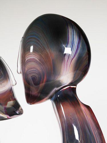 DINO ROSIN, Murano Art Glass The Kiss, Signed