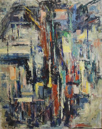 Allen Stone Signed & Dated Oil On Canvas Abstract