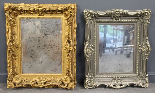 2 Antique Rococo Carved Gilt And Silvergilt