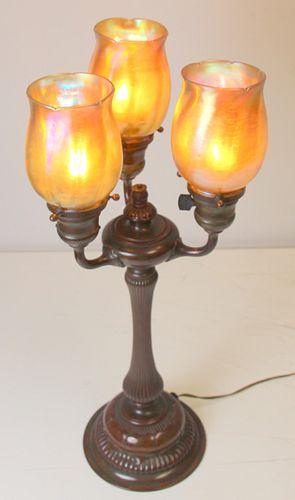 Tiffany Studios 3 Light Table Lamp
