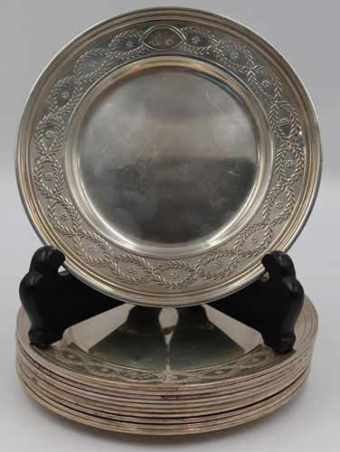STERLING. (11) Tiffany & Co. Sterling Bread Plates