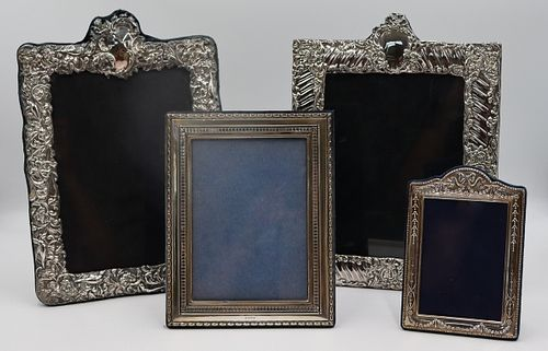 SILVER. Grouping of (4) Assorted Silver Frames.