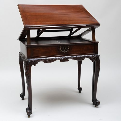 Fine George III Carved Mahogany Architect's Table