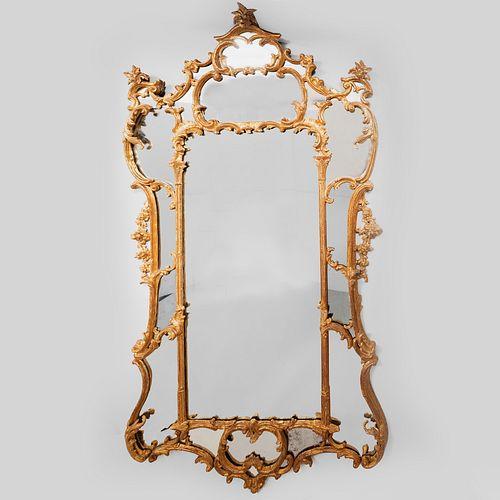 Large George III Style Giltwood Pier Mirror, 19th Century