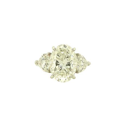 GIA 7.07ct Oval Cut Diamond H/VS2