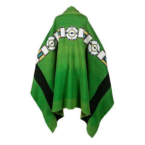 Nez Perce-Cayuse Beaded Buffalo Hide Blanket Strip