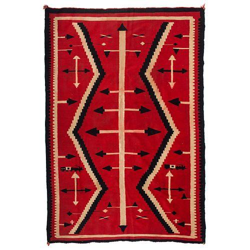 Navajo Pictorial Germantown Weaving / Rug, with Trains