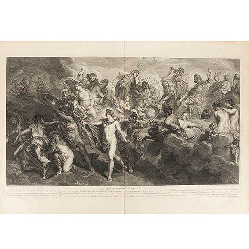 Rubens, Pedro Pablo - Nattier, Jean-Marc La Gallerie du Palais du Luxembourg Peinte. Paris, 1710. 25 grabados de gran formato.