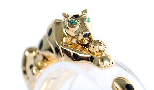 Attr. Cartier Panther Panthere 18k Gold Bracelet