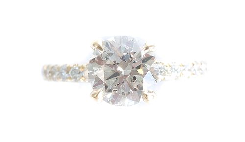 14K YG Engagement Ring w/ 2.26 CTW Diamonds