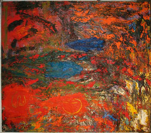 Max Miller, large scale painting, 1988